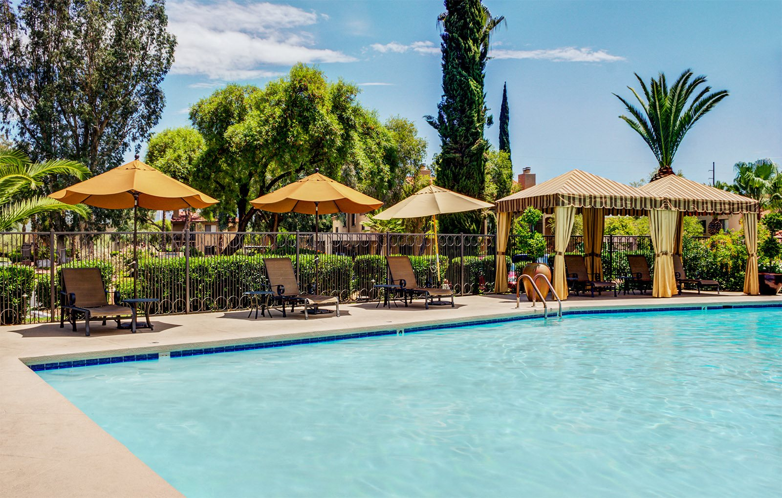 Image of the sparkling pool at Sonoran Terraces Apartment Homes