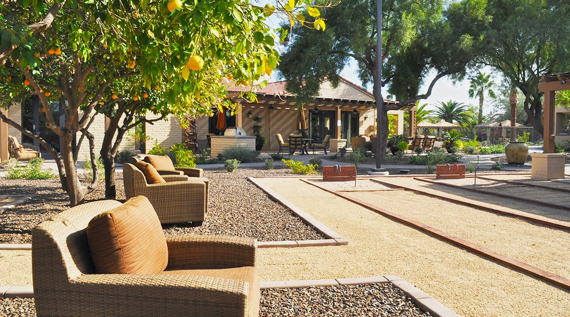 Image of the horseshoe pit at Sonoran Terraces Apartment Homes