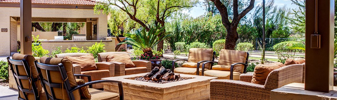 Image of the fire pit at Sonoran Terraces in Tucson, AZ