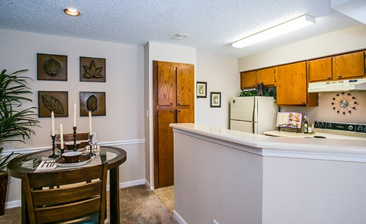 Model Kitchen and Separate Dining Room Area in Albuquerque Near Los Altos Park