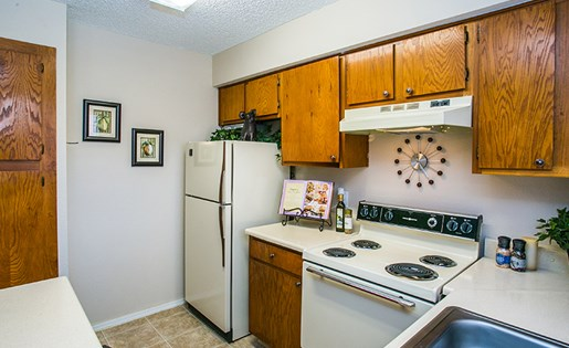 Full Model Kitchen with Appliances and Dishwasher in ABQ Apartments 87123