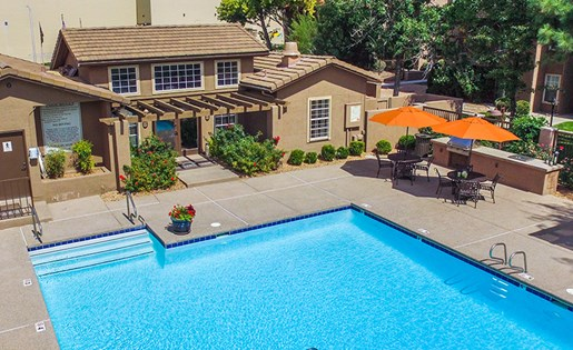 Sparkling Crystal Clear Swimming Pool in Albuquerque Near Los Altos Park