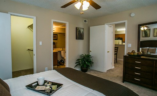 Large Walk-in Closet in Model Bedroom at Hunter's Ridge Apartments ABQ 87123