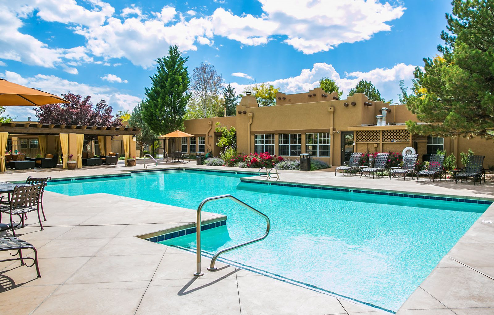 Pool with Sundeck and Lounge at Apartments in Santa Fe