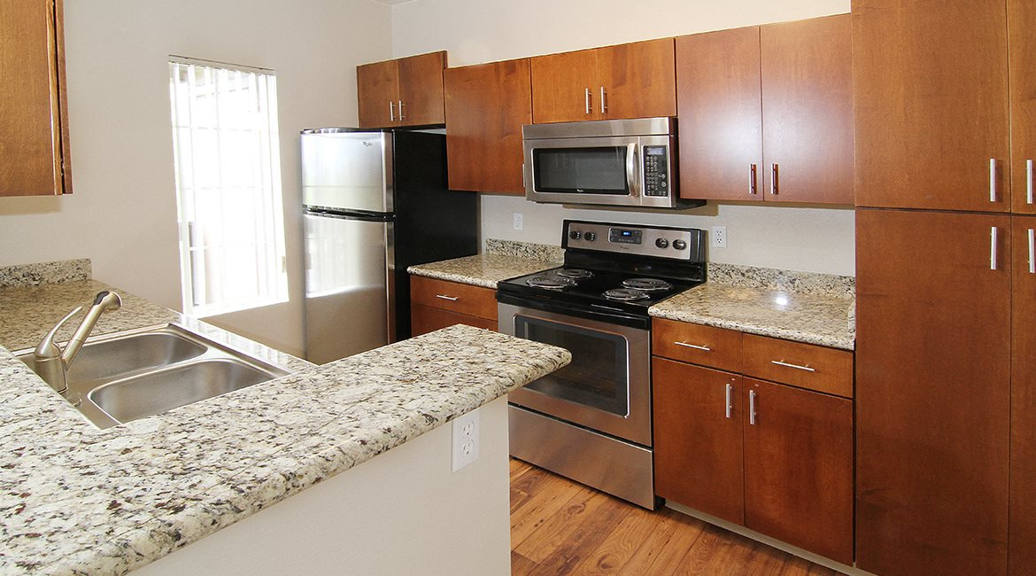 Image of our Full Kitchens with Upgraded Granite Counter Tops