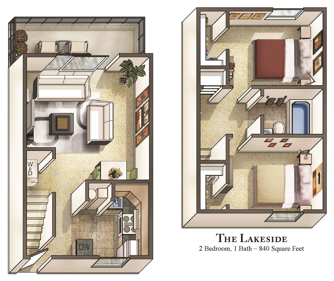 Find Townhomes For Rent: Staples Mill Townhomes Floor Plans