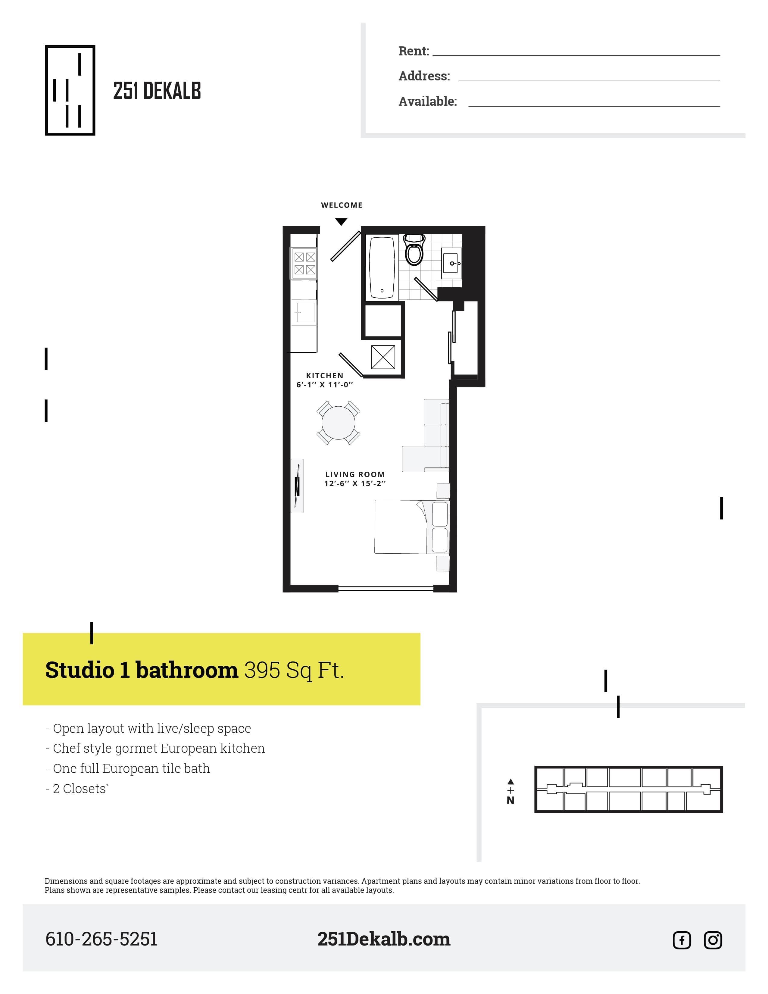 Studio Standard Floor Plan 4