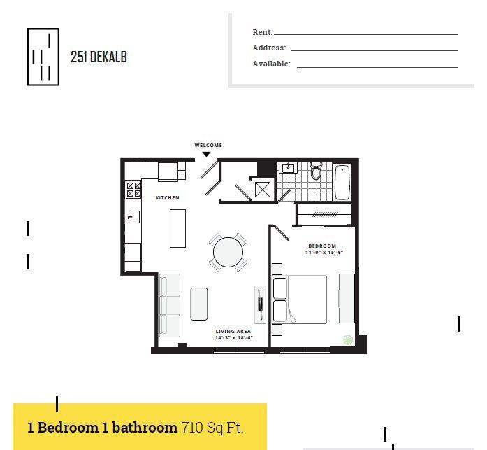 Standard 1 Bedroom 1 Bath
