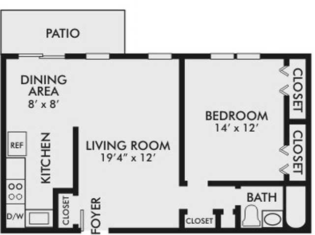 The Buchanan Floor Plan at The Villages of Lancaster Green Apartments in Lancaster PA