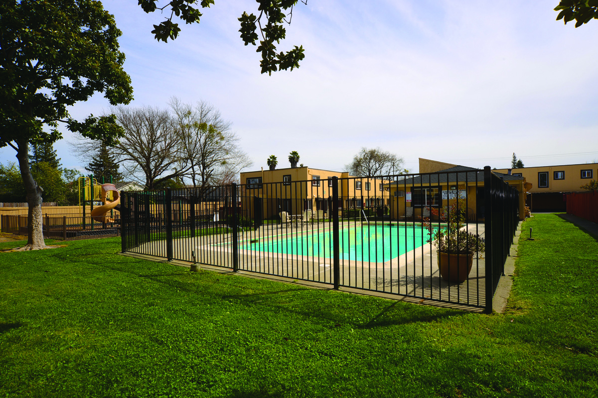 Pool and Grass Area