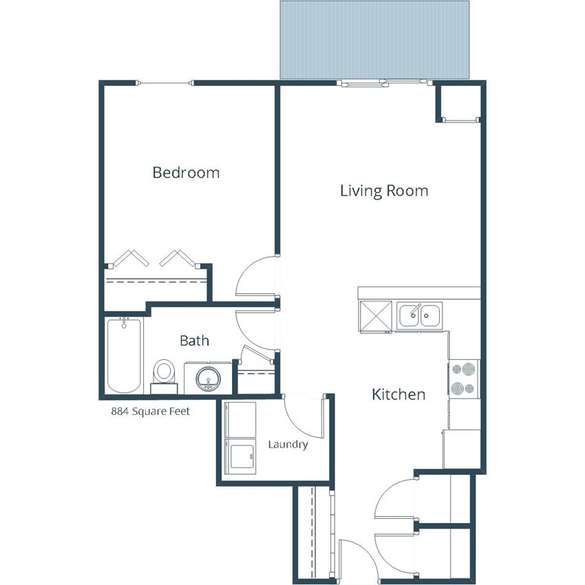 Georgetown on the River Apartments | One Bedroom Floor Plan F