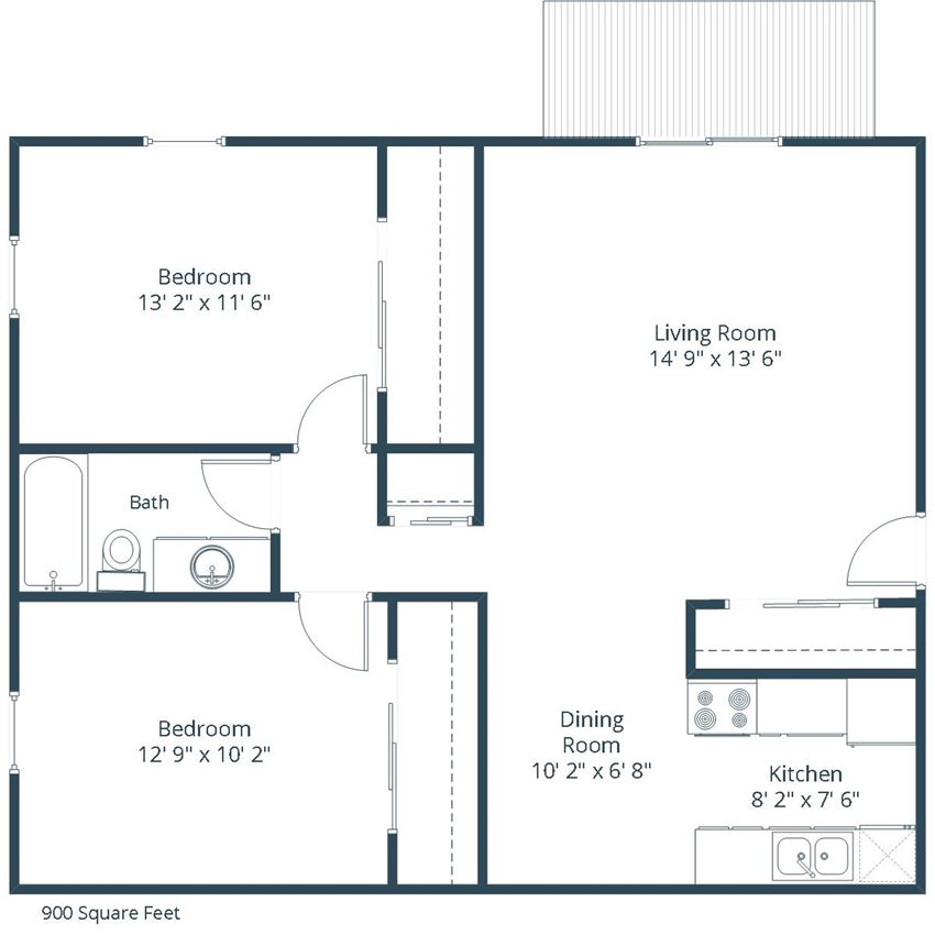 Georgetown on the River Apartments | Two Bedroom Floor Plan C