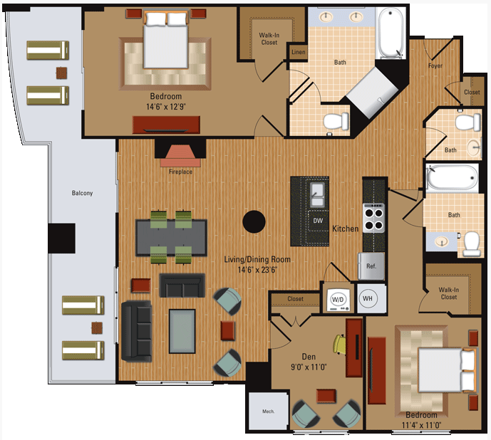 Penthouse - B6 Floor Plan 13