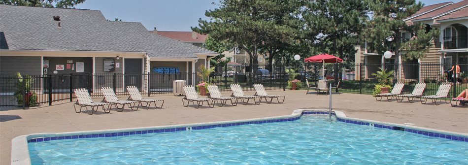 View from Pool Area at Chinoe Creek Apartments for rent in Lexington KY
