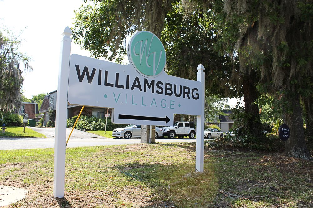 Williamsburg Village's updated exterior sign