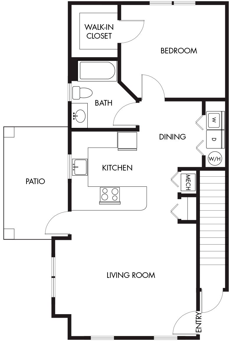 1 Bedroom (A) Floor Plan 7