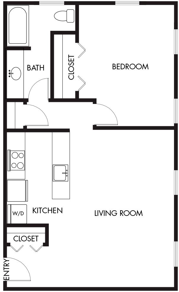 1 Bedroom (A11) Floor Plan 10