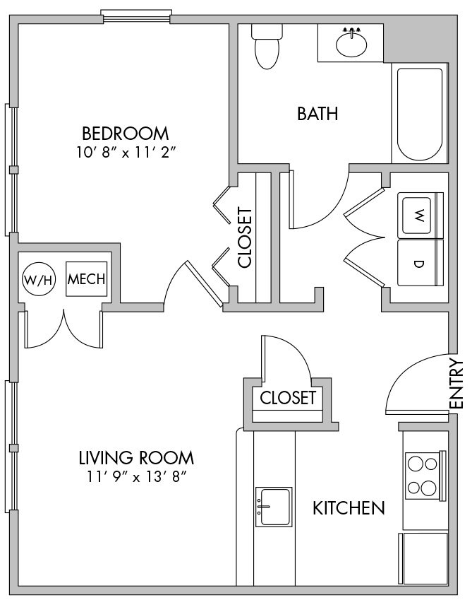 1 Bedroom (2L) Floor Plan 21