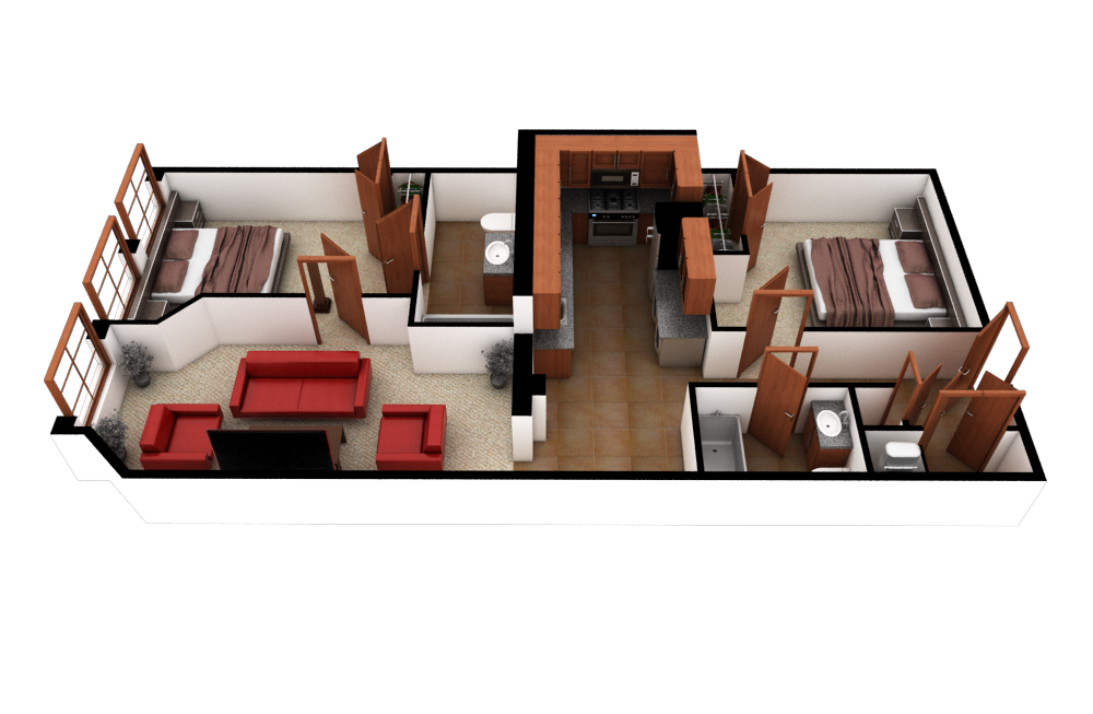 2 Bedroom (B8 Loft) Floor Plan 13