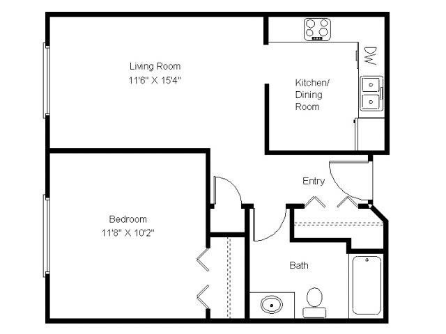 Floor plans of hanley place apartments in hudson wi for 1 bedroom apartments in hudson wi