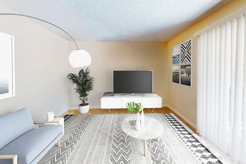 Living room at Pleasanton Glen Apartment Homes