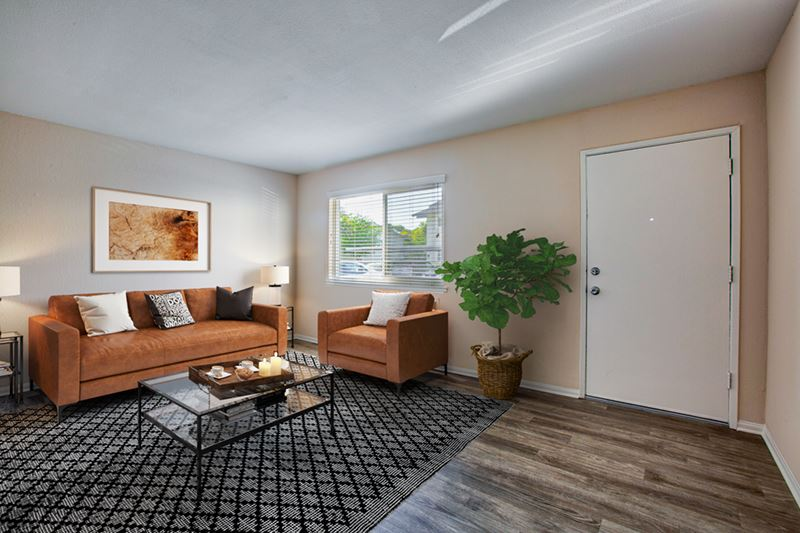 Living room at Pleasanton Place Apartment Homes