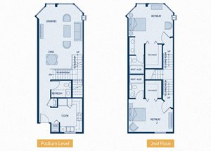Two Bedroom | Marina View - 1359