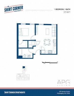 1 Bedroom - Floor Plan_01