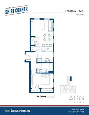 1 Bedroom - Floor Plan_02