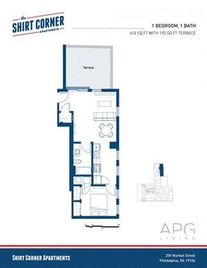 1 Bedroom w Terrace - 502