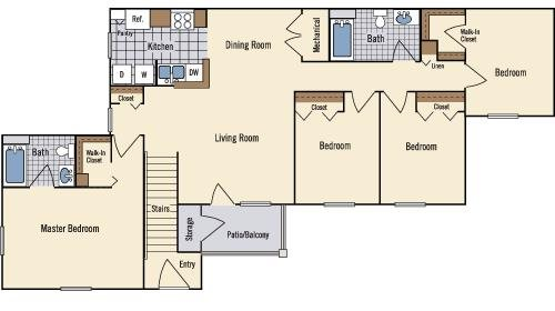 4 Bedroom Floor Plan 5