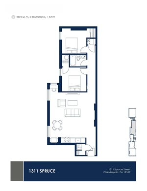 2 Bedroom - Floor Plan 1