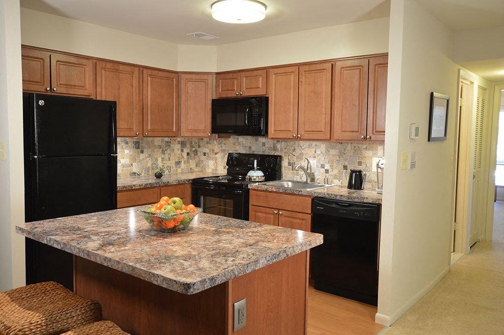Updated Island kitchen