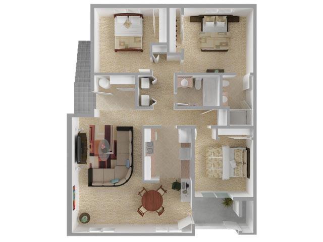 The Big Three Floor Plan 4