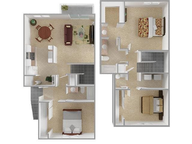 The Bigger Three Townhouse Floor Plan 6