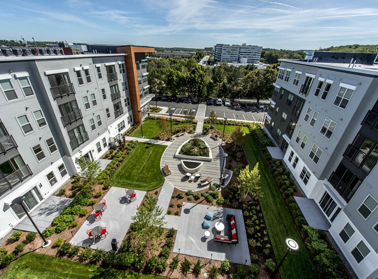 Beautifully Renovated Courtyard at The Tremont, Burlington, MA 01803
