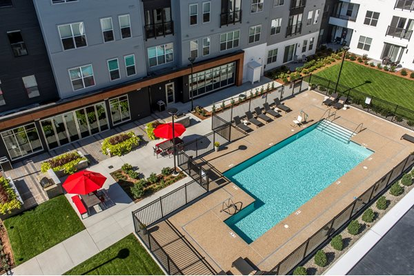 Outdoor Pool with Grilling Patio at The Tremont, Massachusetts, 01803
