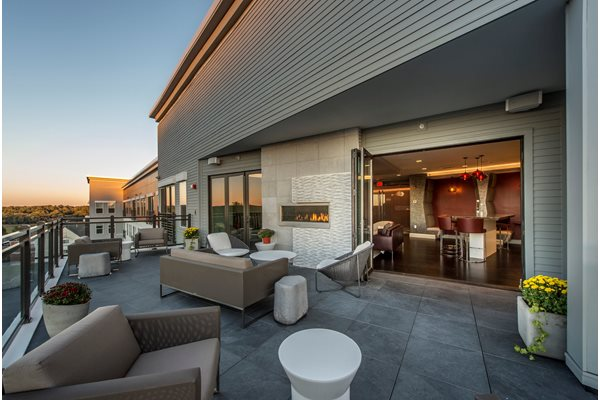 Rooftop Deck with Fireplace at The Tremont, Burlington, MA 01803