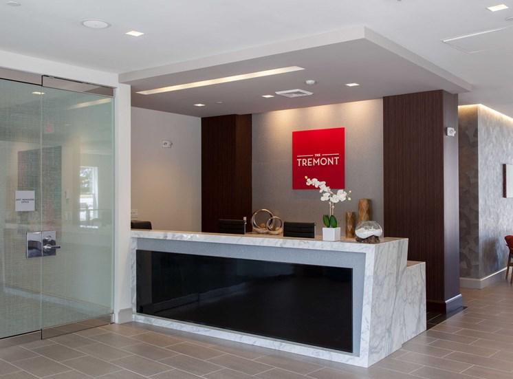 Renovated Leasing Office at The Tremont, Burlington, Massachusetts