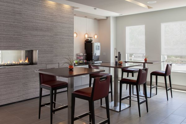 Renovated Lounge with Dining Area at The Tremont, Burlington