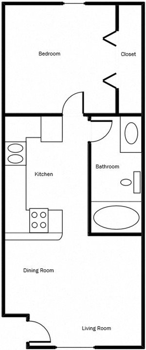 1 Bed 1 Bath - Corporate