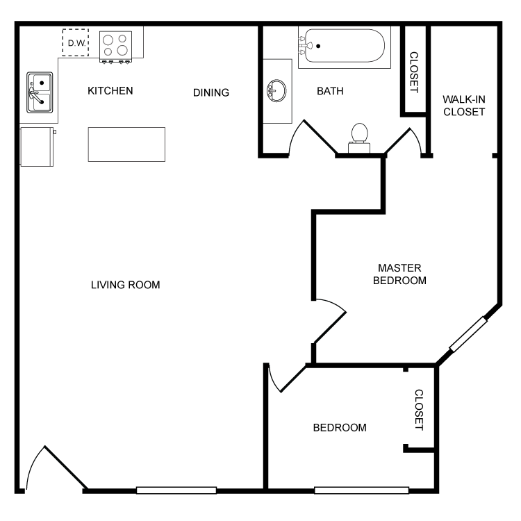 Highland View - 2 Bedroom Floor Plan 8