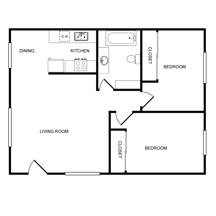 Laurel Lane - 2 Bedroom Floor Plan 3