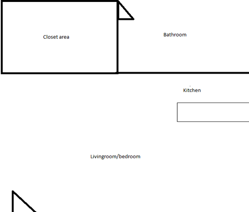 Laurel Lane - Studio Floor Plan 1