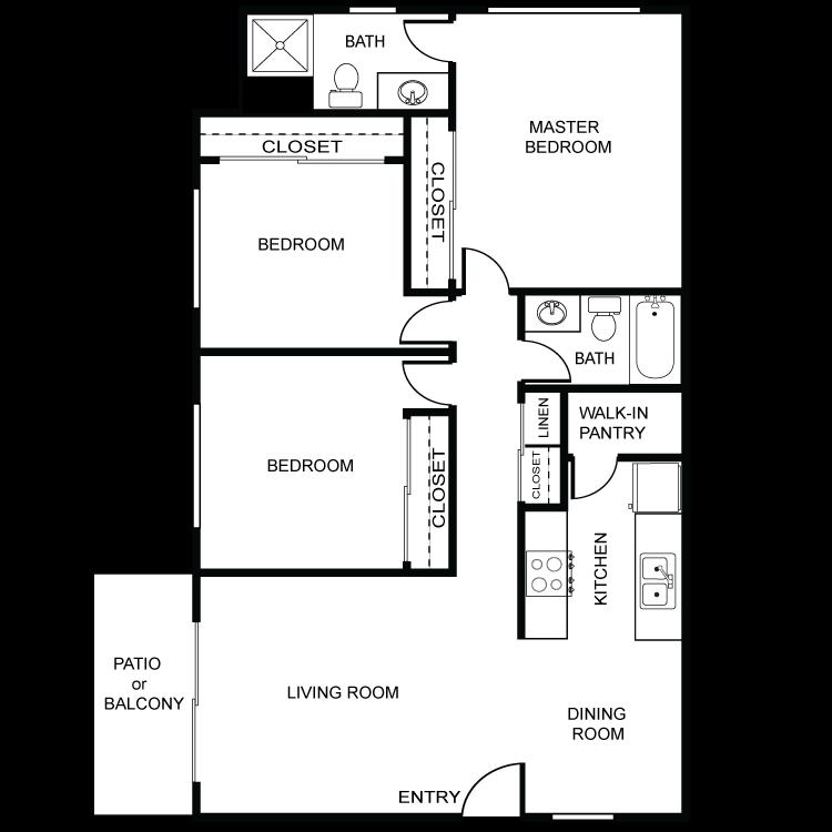 Tierra del Sol - 3 Bed 2 Bath Floor Plan 11