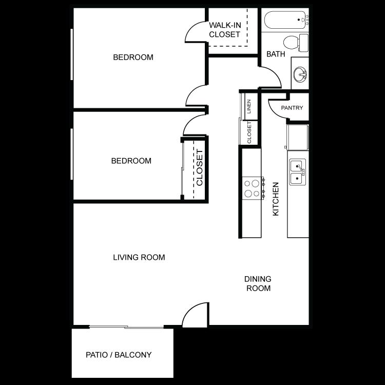 Tierra del Sol - 2 Bed 1 Bath Floor Plan 10
