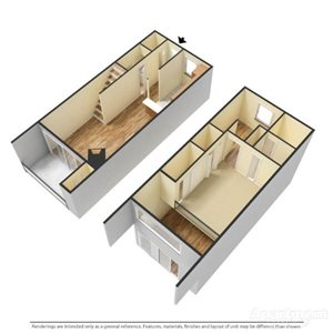 1 Bedroom Townhome Loft 1.5 Baths