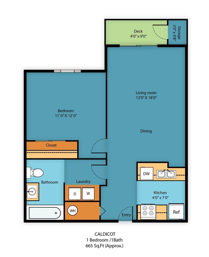 One Bedroom One Bath