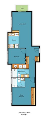 Two Bed Two Bath C Floor Plan 8