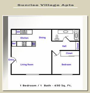 Sunrise Village - 1 Bedroom